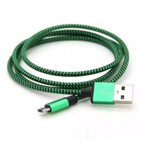 Cheap 500PCS Cheap Micro USB 2.0 Cable Charger Fast Fabric Braided Data Sync Charging Metal Head For Android Phone Samsung S6 note 4 1M 2M 3M DHL