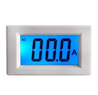 Wholesale AC A LCD display digital current amp ampere panel gauge meter ammeter digital power supply V AC