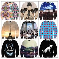 Wholesale Long sleeve O neck D Eiffel Tower holly wood emoji expression sexy women s sweatshirts tracksuits pullovers streetwear hoodeis