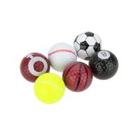 Wholesale 6 Novel Double Ball Two Piece Ball Golf Balls Seamless Dimple Design Sports Creative Golf Ball Bolas Y0153