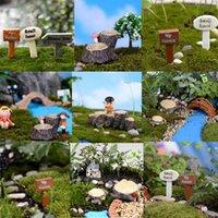 Wholesale Tree stump for Miniature Garden Ornament DIY Mushroom Craft Pot Fairy Dollhouse Many Style tree stump Garden Ornament Plant Pots