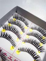 Wholesale 10Pair new make up Thick black Handmade False Eyelashes Mink Eyelash Lashes Voluminous Makeup Fastion girl
