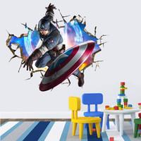 venda por atacado iron art-2015 Hot Venda 3D Avengers Parede Homem de Ferro Adesivos novidade decoração Home Decalques Adesivo de Parede engraçado Wall Art