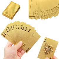 Wholesale Fashion New High Grade K Gold Foil Poker US Dollar Pattern Playing Cards