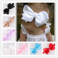 Wholesale Infant Bow Headbands Girl Flower Headband Children Hair Accessories Newborn Bowknot Flower Hairbands Baby Photography Props colors