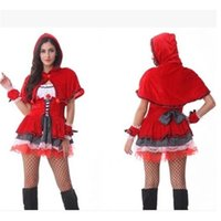 Wholesale Women Cute Red Color Costumes Cosplay Stage Performances for Christmas Halloween