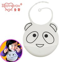 Wholesale Jin Ying Baby Bib soft waterproof waterproof soft silicone Bib Bib rice pocket Bib stereo multi pattern
