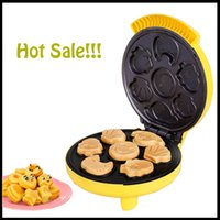 automatic waffle maker - Automatic Multifunction Cartoon Waffle Making Machine Mini Electric Baking Pan Pancake Cake Waffle Maker Machine
