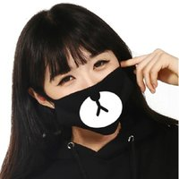 Wholesale 1 Lucky Bear Black White Mouth Mask Dust Proof Fashion Kpop Cool Style Cute Face Travel Trips Supplies New Arrival