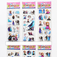 art products for kids - Wall Stickers Frozen Sock Stereo Feeling Cartoon Kids Cute Toy Stickers Cartoon Craft Scrapbook Stickers Awards Children s Products Gifts