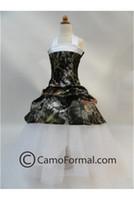 christmas flower pick - 2015 Camo Flower Girl Dresses Halter Flower Girls Clothes Forest Kids Wear Picked up Custom Made Little Girl Dress for Wedding Party