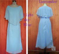 mother of the bride dresses tea length - Tea length Light Sky Blue Mother s Dress Chiffon Lavender Mother of The Bride Wedding Party Dress Evening Gowns