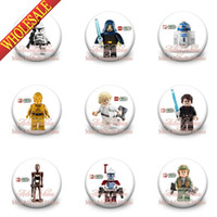 button badge - Star War Ninjago style mixed Cartoon Logo Buttons Pins Badges Brooch Badges CM party favor gift Hot Movie Princess bags decoration