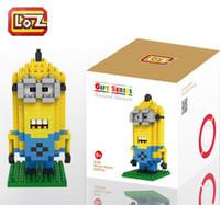 Wholesale Despicable Me Minion Kevin etc Diamond Building Blocks LOZ Blocks Bricks Action Figures Toys Kids Education Toys Gift LOZ