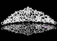 Wholesale Hot Bridal Jewelry Bridal Ribbon Tiaras Crystal Handmade Rhinestone Wedding Accessories Good Quality Party Girls Hair Jewelry Accessories WW