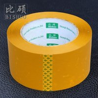 Wholesale Sealing tape botticing tape packing tape packing belt yellow box cm thick cm