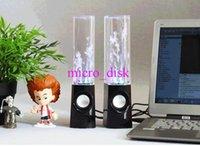 Altavoz de baile Active Water Mini USB portátil LED Altavoz Luz para el iphone ipad PC MP3 MP4 PSP DHL libre LY