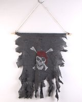 Wholesale 2015 Halloween Pirate Skull Flag Costume Make up Fancy Props Pirates of the Caribbean