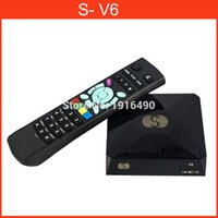 Cheap S-V6 Mini HD Digital Satellite Receiver S V6 with AV HDMI output 2xUSB WEB TV USB Wifi Biss Key Youporn CCCAMD S-V8
