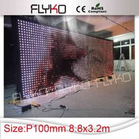 auto pitch - Pitch x8 meter PC SD Moder Led Video Curtain Screen Wedding Background P10 LED Backdrops Wedding