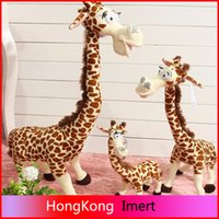 Wholesale Hot cm giraffe Toy plush toys cute Madagascar giraffes toy For Children doll baby toy brinquedos birthday gifts
