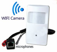 Wholesale MP P IP Camera PIR Pinhole CCTV Onvif quot CMOS Wide angle P2P