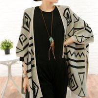 western clothing - Western Girl Women Geometry Batwing Sleeve Capes Poncho Blouse for Women Lady girls Clothing Loose Casual Tops Fall Winter Jackets Outwear