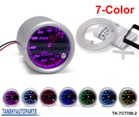 Wholesale 2 quot mm COLOR Vacuum GAUGE LED Car Vacuum Meter Universal Smoke Face TK C7706 Have in stock
