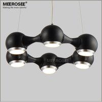 Wholesale light LED Ring Chandelier Light Fixture Modern Circle Lamp for Dining room Ailsle Porch Prompt Shipping Guarantee