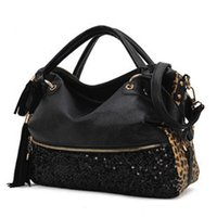 fashion handbag wholesale - Leopard Trendy Women Handbags Interior Slot Pocket Fashion Ladies Totes with Straps Best Ladies Handbags Zipper Pocket