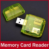 Wholesale Transparent Mini All In One Ports USB Multi Memory Card Reader For SD SDHC MMC Micro SD TF MS MS PRO M2 Micro MS
