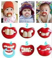 Wholesale Creative fun wacky silicone pacifier maternal and child supplies pacifier buckteeth rabbit teeth