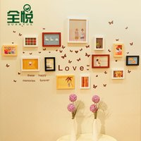 Cheap Wyatt wood photo wall full creative fashion photo frame wall decoration wall picture frame combination 13QY841