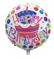 party happy birthday - Best Quality inch Kids HAPPY BIRTHDAY THEME Round Aluminum Foil Helium Balloon Birthday Party Decoration Kids Xmas Toys Style