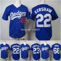 angeles kid - Youth Clayton Kershaw Los Angeles Dodgers Authentic Kids Baseball Jerseys New Embroidery Logos Cool Base Cheap Jersey