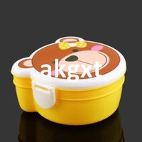 Wholesale Details about Two Double Layer Kid Cartoon Plastic Lunch Meal Bento Box Case Microwaveable G9 D504