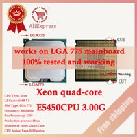 Wholesale Xeon E5450 CPU GHz M close to LGA775 Core Quad Q9650 works on LGA mainboard no need adapter