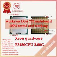 Wholesale Xeon E5450 CPU GHz M close to LGA775 Core Quad Q9650 works on LGA mainboard no need adapter