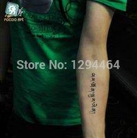 arabic letters - HC1097 Harajuku Arabic Tattoos Letter Ankle Small Tatoo Arabic Waterproof Arm Body Temporary Tattoo Stickers