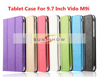 Wholesale 2015 New Arrival Inch Kickstand Cute Natural Silk Leather Case For Vido M9i Tablet Case For Vido M9i
