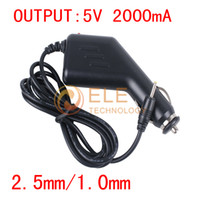 Wholesale 5V A mm android tablet car charger Power Adapter for allwinner a13 Q88 Sanei Flytouch cube u18gt ainol legend Tablet PC