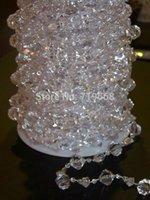 Wholesale 18Meters roll mm Diamond Clear Garland Acrylic Crystal Gemstone Bead Curtain Centerpiece wedding tree decor table chandelier