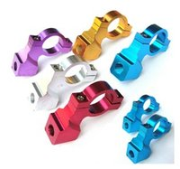 Wholesale Universal mm Stud Motorcycle Rearview Mirror Mount Holder Adapters Aluminum Clamp