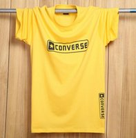 name brand clothing - 5XL t shirt men summer loose plus size casual t shirts letter print brand name clothing color