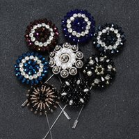 asian evening dresses - Luxury Beaded Large Brooch Wedding Rhinestone Pearls for Men Women Suit Dress In Bulk Brooches Pins For Evening Party Dresses
