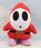 Wholesale 17cm Super Mario Shy Guy Stuffed Plush Toys Soft Dolls Gift For Children