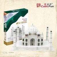 Wholesale CubicFun d puzzle paper mould board DIY building The taj mahal in India educational model for kid birthday Chrismas