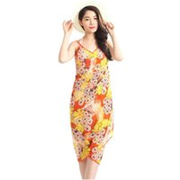 best beach vacations - Hot Salw Best seller Women Seaside Vacation Beach Floret Printed Chiffon Sling Swimwear Jan12