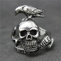 band pigeon - Fashion Design L Stainless Steel Pigeons Skull Mens Ring EXPENDABLE Silver Skull Gifts Ring