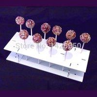 Wholesale White Holes Acrylic Lollipop Display Stand white Acrylic lollipop candy stand